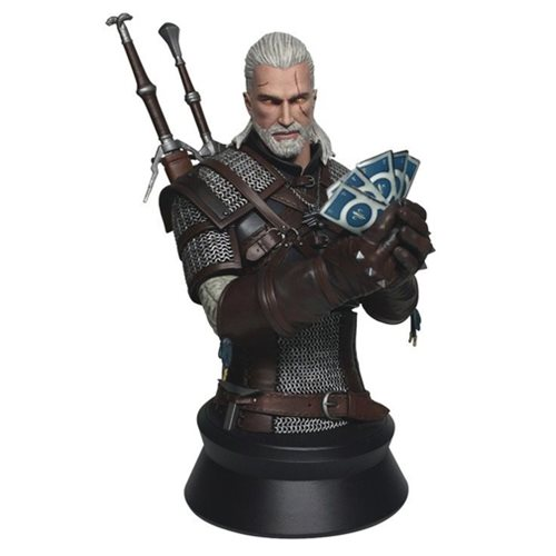The Witcher 3: Wild Hunt Geralt Playing Gwent Mini-Bust