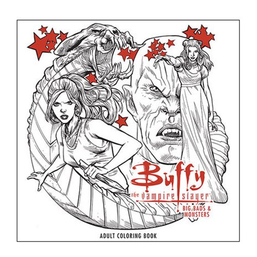 Buffy The Vampire Slayer Big Bads Adult Coloring Book