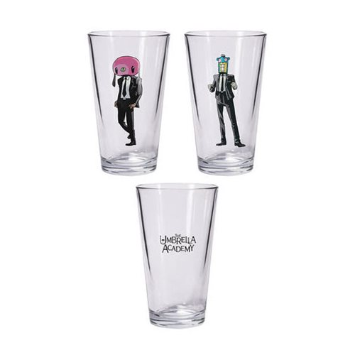 Umbrella Academy Hazel and Cha Cha Pint Glass Set