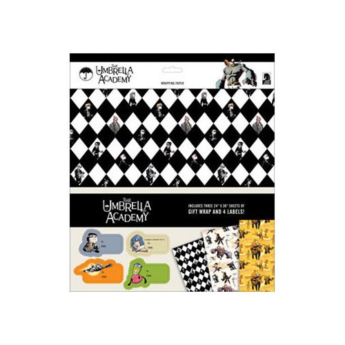 Umbrella Academy Wrapping Paper Gift Wrap
