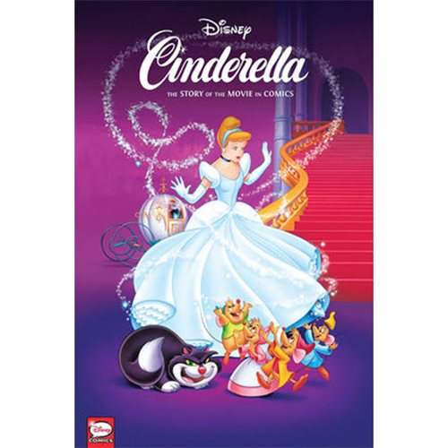Disney Cinderella: The Story of the Movies in Comics Hardcover Book