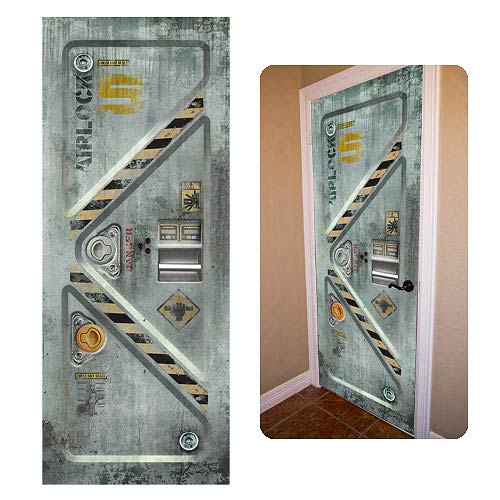 Space airlock doorjamz vinyl door wall sticker doorjamz for Door mural stickers