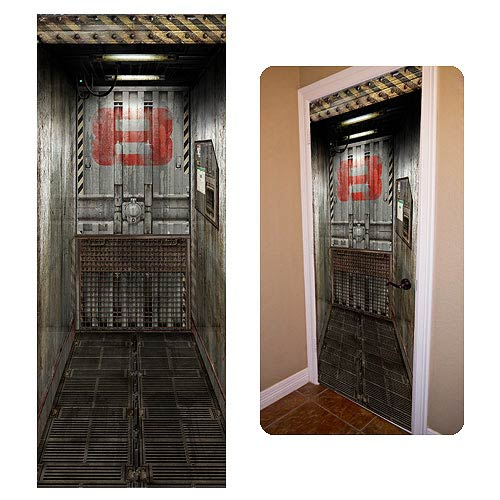 Freight Elevator DoorJamz Vinyl Door Wall Sticker