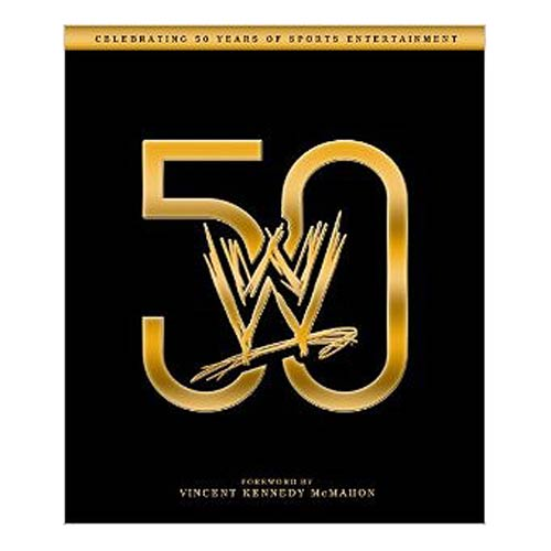 WWE 50 Years of Entertainment Hardcover Book