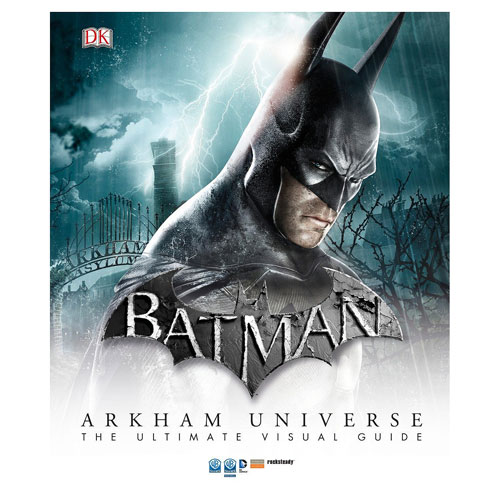 The Batman Arkham Universe The Ultimate Visual Guide Hardcover Book details the key storylines, characters, locations, weapons, gadgets, and equipment of these award-winning, action-adventure games. The book is created in collaboration with Warner Bros. Interactive Entertainment and RockSteady (the game's creators), and features many of the timeless characters from DC's Batman comics, such as the Joker, Catwoman, Robin, the Penguin, Harley Quinn, and the Riddler. 200 pages. Measures approximately 12-inches x 10 1/8-inches wide.