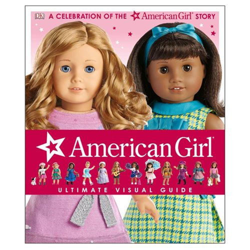 The American Girl: Ultimate Visual Guide Hardcover Book will be a treasured addition to every American Girl fan's bookshelf. The book features gorgeous images, a detailed timeline of the company, and tons of exclusive behind-the-scenes information. Find out all about your favorite characters and their lives, historical eras, outfits, pets, accessories, and more with the American Girl: Ultimate Visual Guide Hardcover Book. The 200 page book measures about 11 9/10-inches tall x 9 9/10-inches wide. Ages 3 and up.