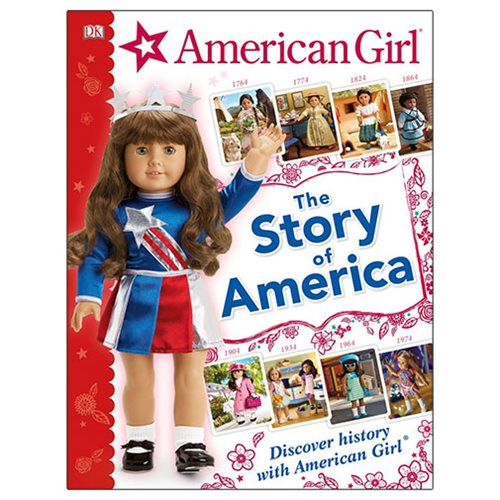 Learn about the history of America through the storylines and characters of the popular American Girl BeForever dolls. The American Girl: The Story of America Hardcover Book allows readers to step into key moments from America's history with the American Girl BeForever characters. Travel back in time-from the 1750s to the groovy 1970s. Find out how the Nez Perce tribe lived, what it was like to grow up on the wild frontier, how girls helped the war effort during WWII, and much more. Fascinating facts are paired with historically accurate items from the American Girl Doll collections to illustrate important eras in American history. Young readers will engage with history as they meet each character and discover her incredible story. The 64 p