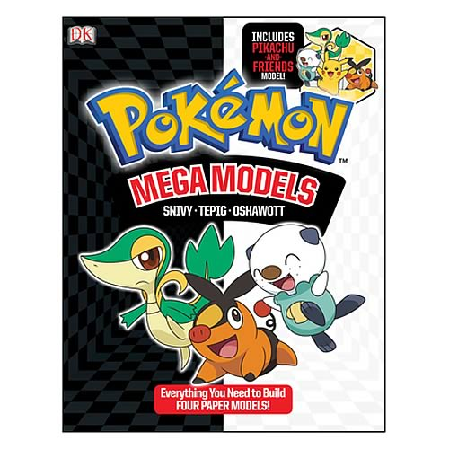 Pokemon Mega Models Paper Craft Paperback Book