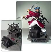 Blackbeard Pirate with Deck and Wheel Model Kit