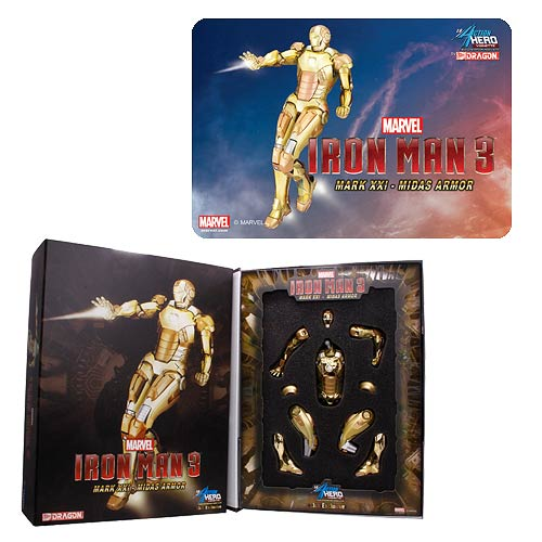 Iron Man 3 Mk. 21 Midas Armor AHV Pre-Assembled Model Kit