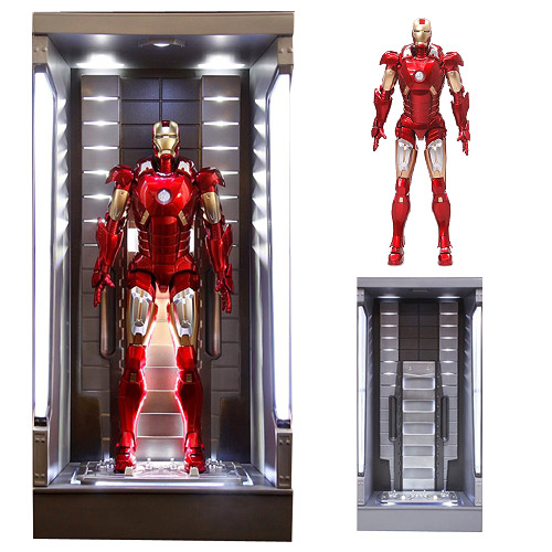 Iron Man 3 Mark 7 w/ Lighted Hall of Armor AHV Model Kit