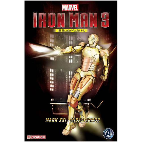 Iron Man 3 Mk. 21 Midas Armor Electroplating Ver. Model Kit