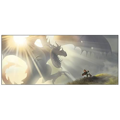 How To Train Your Dragon Run Concept Artwork Canvas