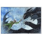 How To Train Your Dragon The Night Fury Paper Giclee Print