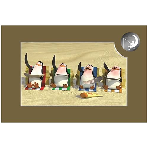 Madagascar Penguins on the Beach Cel