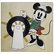 Mickey Mouse Ship Captain Minnie Mouse Stone Artwork