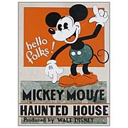 Mickey Mouse Haunted House Poster Stone Artwork