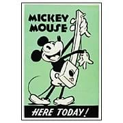 Mickey Mouse Here Today Poster Stone Artwork