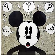 Mickey Mouse Surprised Mickey Large Stone Artwork