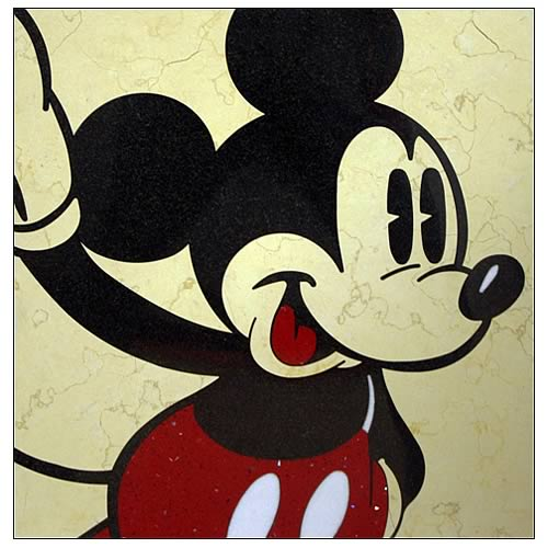 Mickey Mouse Classic Mickey Yellow Dots Stone Artwork