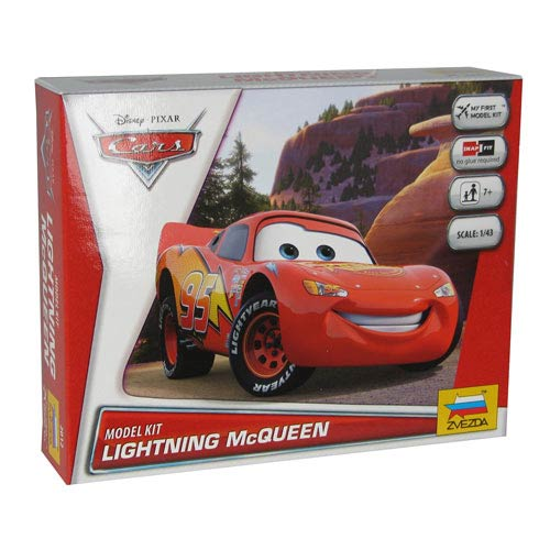 Cars Movie Lightning McQueen Vehicle Snap Fit Model Kit