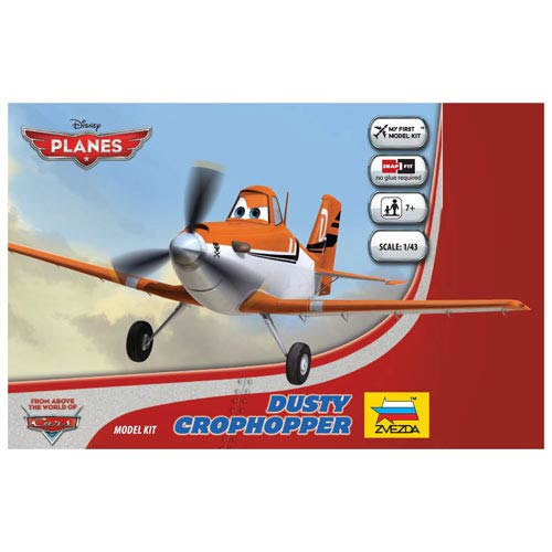 Planes Movie Dusty Crophopper Vehicle Snap Fit Model Kit