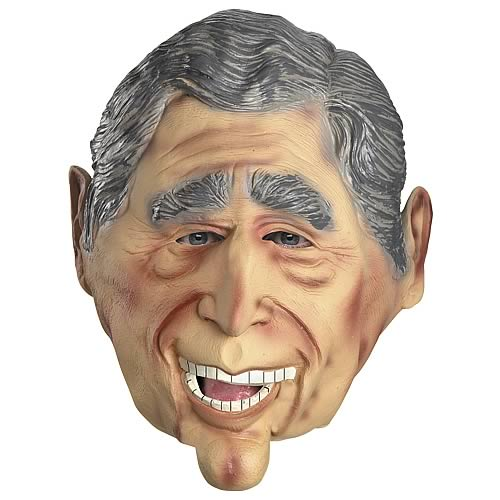 George W. Bush Movable Jaw Adult Full Mask