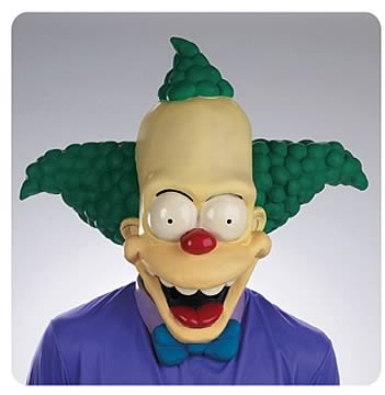Krusty The Clown Oversized Mask