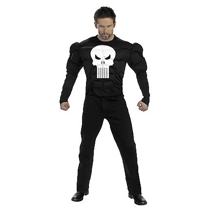 Marvel Punisher Deluxe Muscle Adult Costume