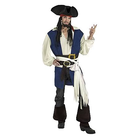 Pirates 2 Jack Sparrow Deluxe Adult Costume