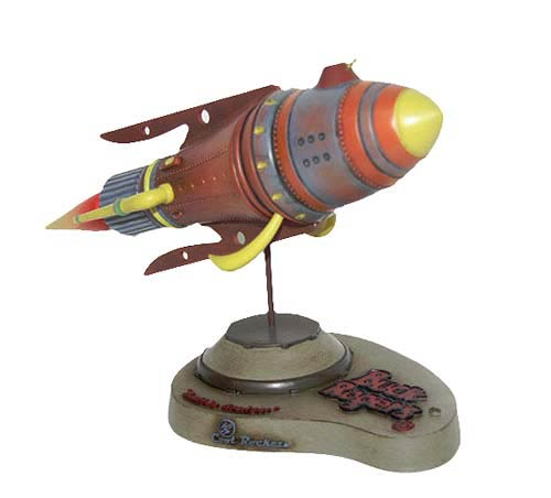 Buck Rogers Battle Cruiser Rocket Statue
