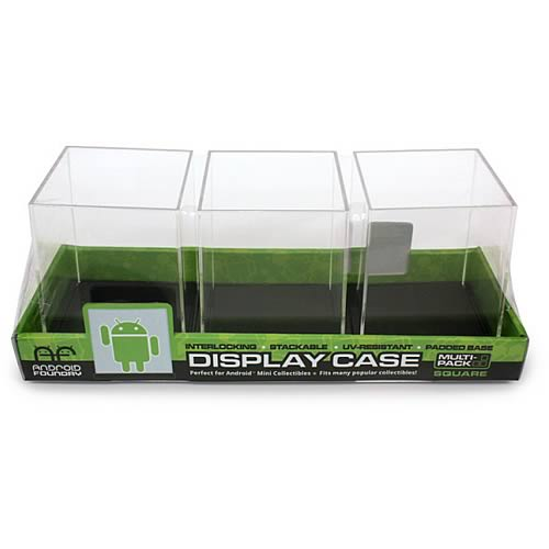 Google Android Square Mini-Figure Display Case 3-Pack