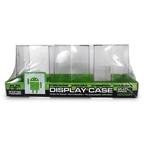 Google Android Hexagonal Mini-Figure Display Case 3-Pack