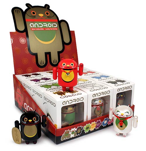 Android Lucky Cat Series Random Vinyl Figure