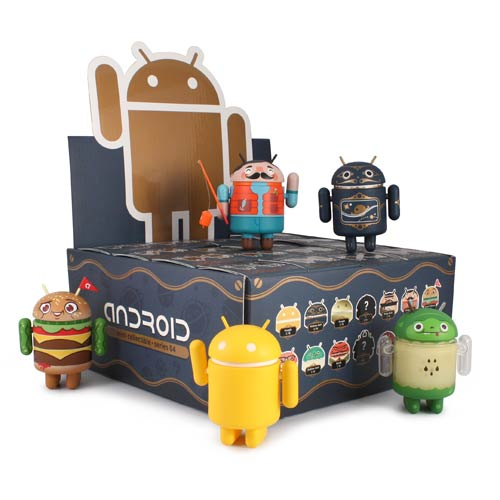 Google Android Phone Mascot Series 4 Mini-Figure 4-Pack