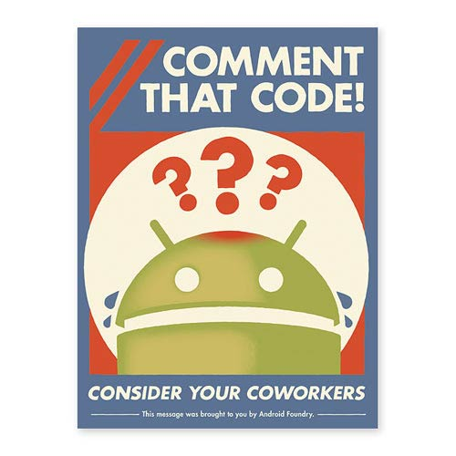 Android Comment That Code! Lithograph