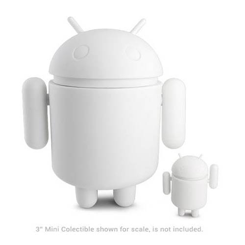 Android Mega Do-It-Yourself White Google Mascot Vinyl Figure