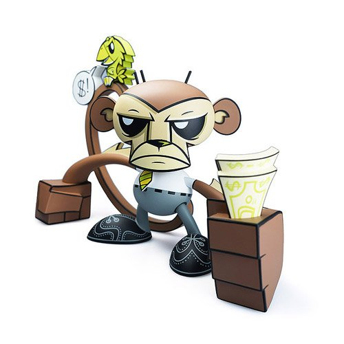 Business Monkey by Joe Ledbetter Vinyl Figure