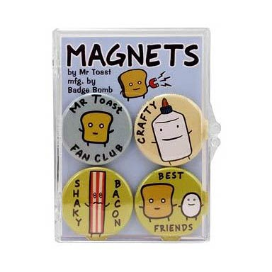 Mr. Toast Magnet Set 4-Pack