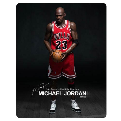 Michael Jordan Bulls 23 Red Jersey Real Masterpiece Figure
