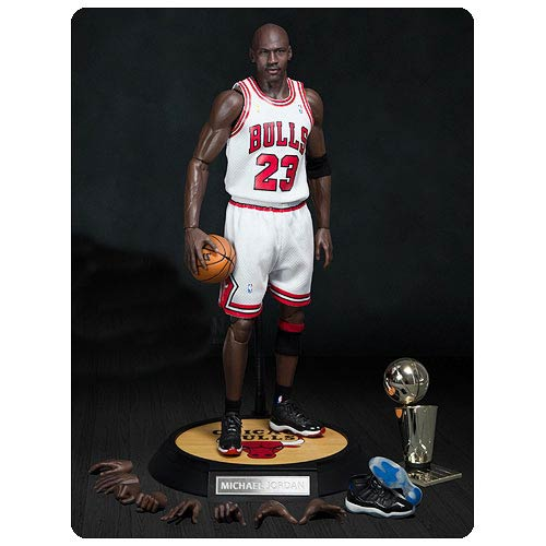 Michael Jordan Bulls 23 White Jersey Real Masterpiece Figure