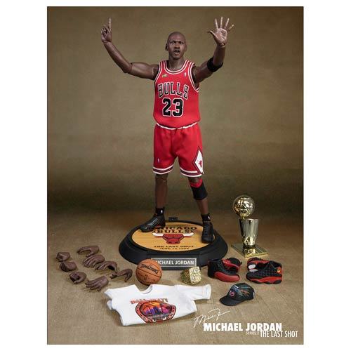 Michael Jordan Series 2 Red Jersey Last Shot Figure