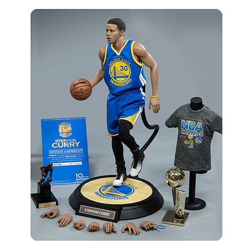 Best Sports Toys : Nba stephen curry scale real masterpiece action figure