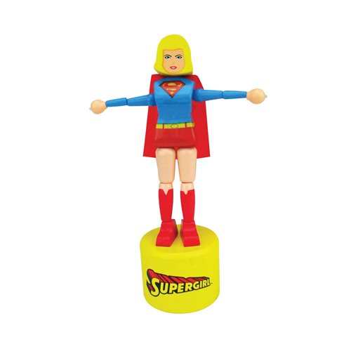 Supergirl Wooden Push Puppet