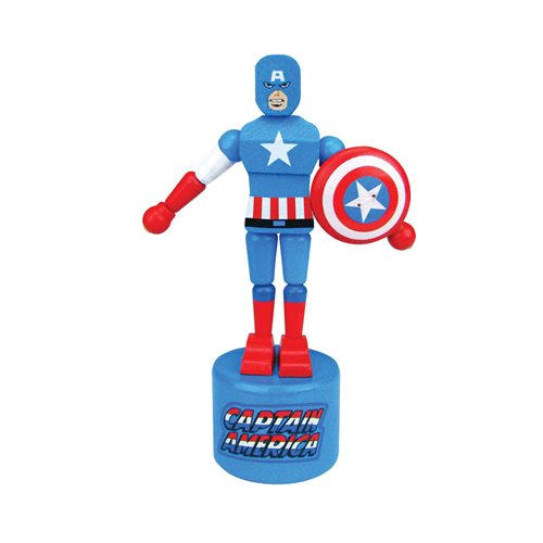 Captain America Wooden Push Puppet