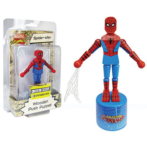 Spider-man Wooden Push Puppet Convention Exclusive