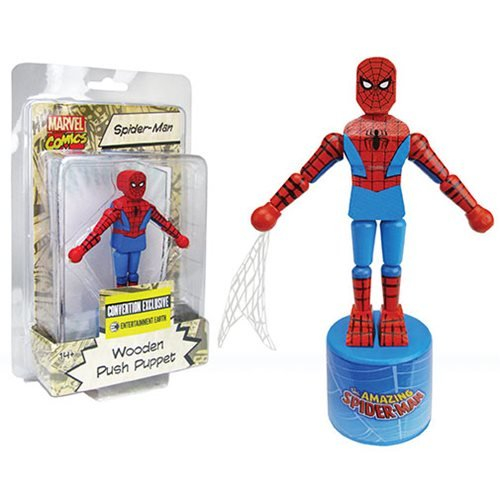 Spider-Man Wooden Push Puppet - Convention Exclusive