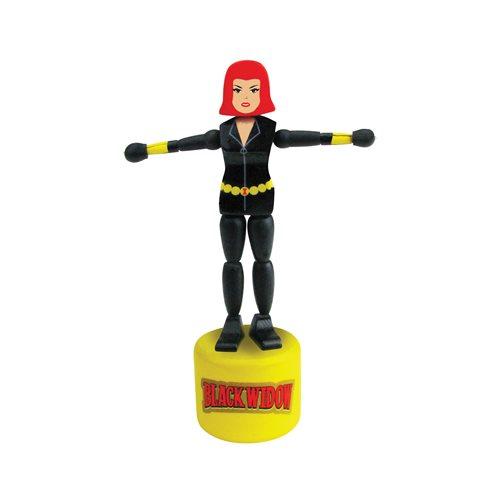 Black Widow Wooden Push Puppet