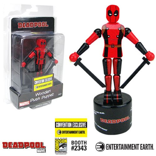 Deadpool Wooden Push Puppet - Convention Exclusive