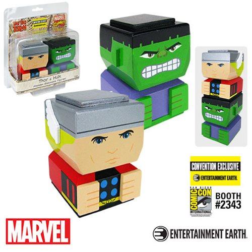 Thor and Hulk Classic Tiki Tiki Totem Set of 2 - Con. Excl.